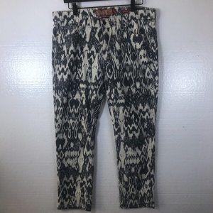Lucky Brand 12 31 Ikat Printed Legend Capri Jeans